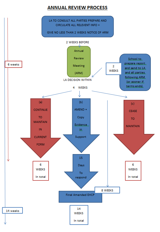 Annual review process flow chart